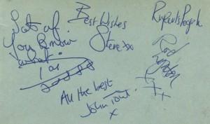 ruperts autographs