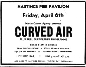 6th april curved air 1973
