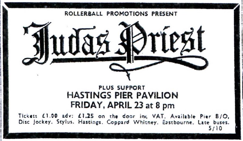 judas priest 23rd APRIL 1976
