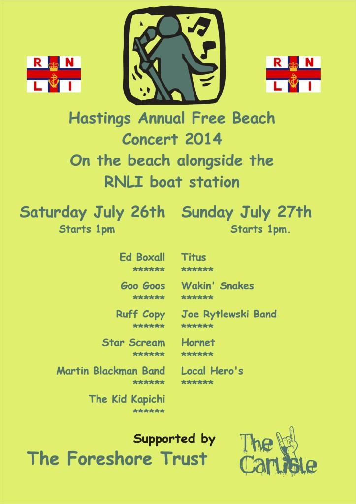 Beach concert poster 2014
