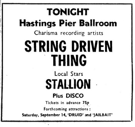 7TH SEPT 1974 STRING DRIVEN THING.