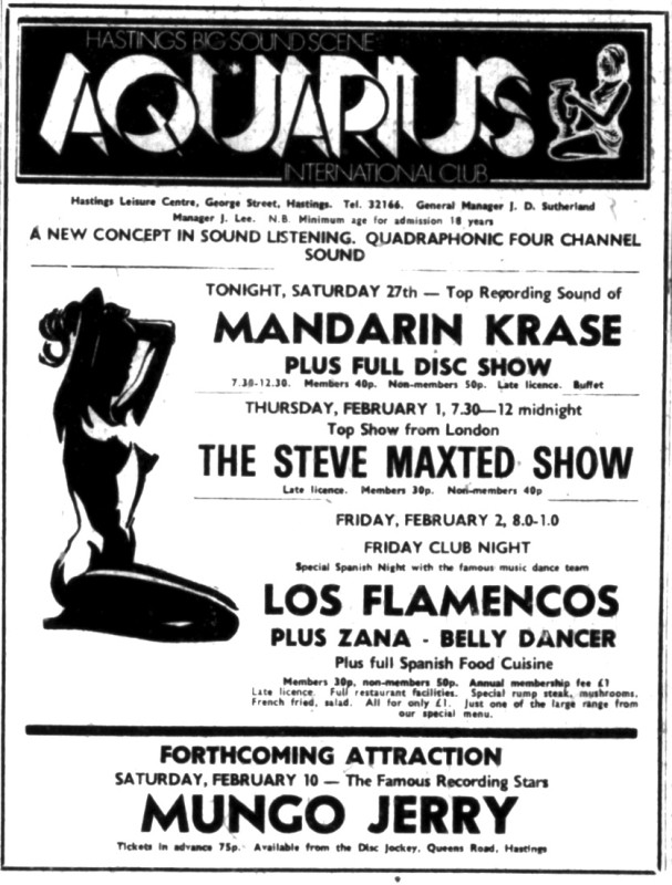 mandarin krase 27th JAN 1973