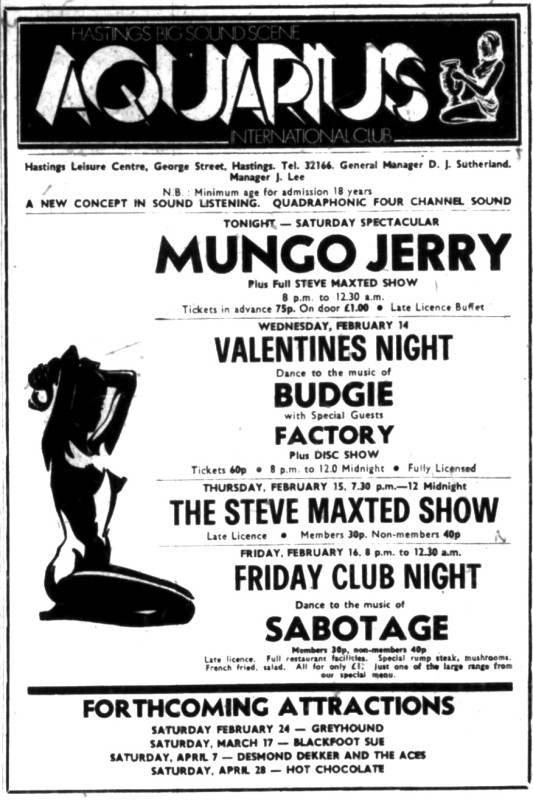 mungo jerry 13th feb 1973