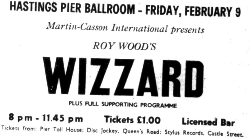 wizzard hastings pier 9th feb 1973