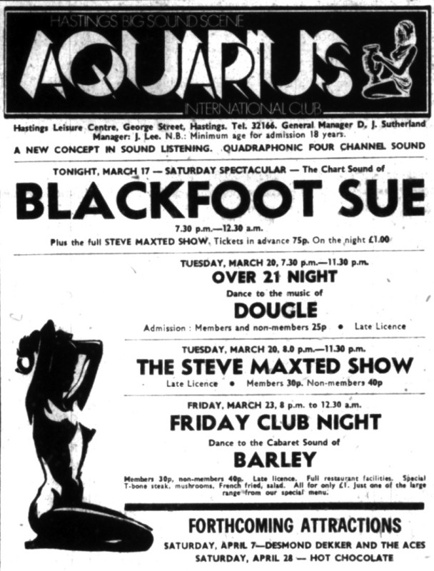 blackfoot sue - 17th march 1973