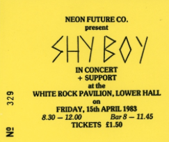 shy boy ticket