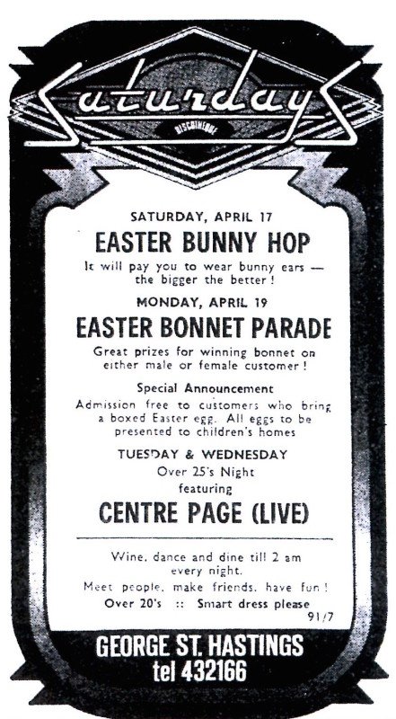 17th april 1976 Easter Bunny