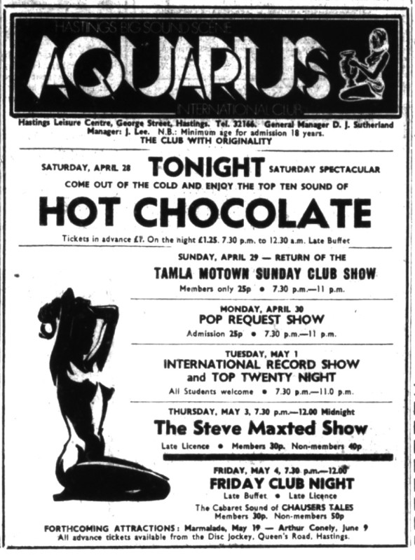 28th april 1973 - hot chocolate