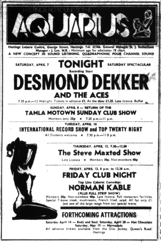 7th april 1973 desmond dekker