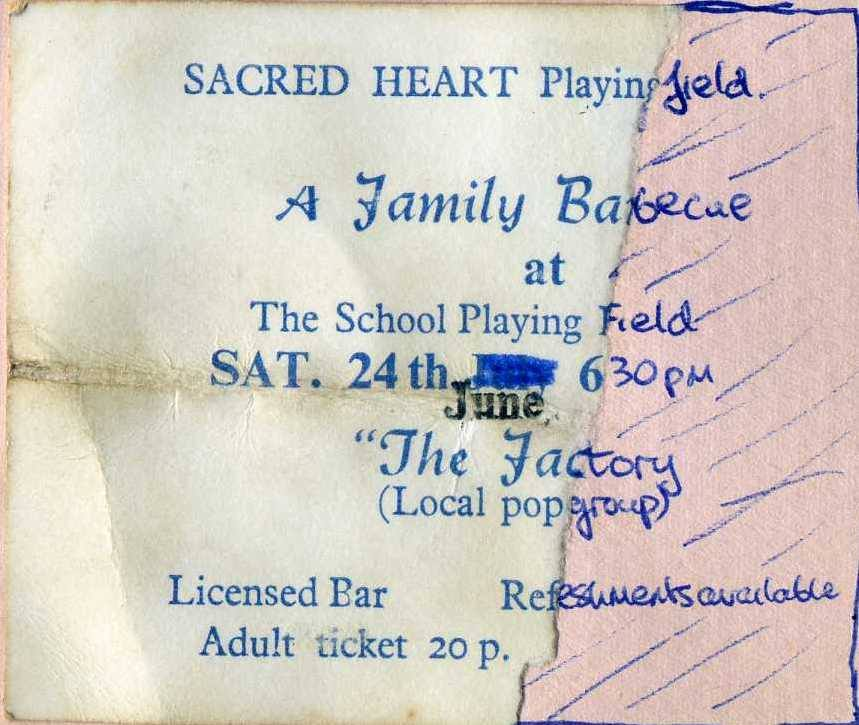 Factory, Sacred Heart Playing Field, Hastings 24.06.72 pete fisher