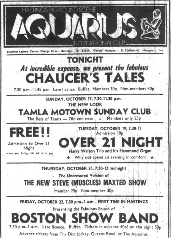 16th-oct-1971-chaucers-tales