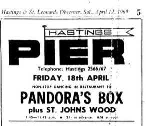 18th april 1969 - pandora's box