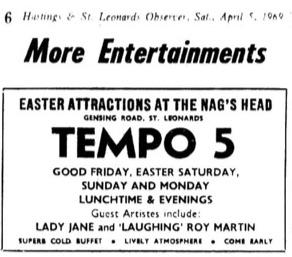 5th April 1969 - tempo 5