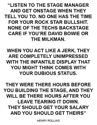 Henry Rollins letter about sound techs