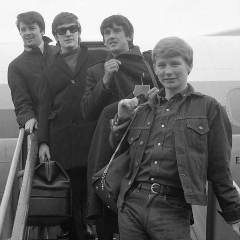 Beatgroep Searchers bij aankomst op Schiphol *17 september 1965