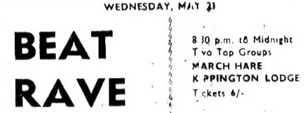 21st May 1969 - beat rave