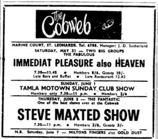 31st May 1969 - Immediat Pleasure