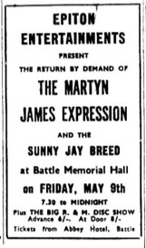 9th may 1969 - martyn james